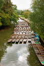 Punts on the river. Oxford, UK Royalty Free Stock Image
