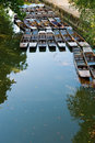 Punts on the river. Oxford, UK Royalty Free Stock Photo