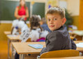 Pupil in the class classroom classroom Stock Image