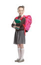 Pupil with copybooks Stock Photography