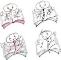 Pupil's mark book cartoons Stock Photography