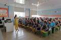 Pupils on chorus course Royalty Free Stock Photo