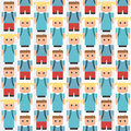 Pupils - seamless pattern Stock Images