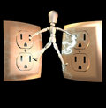 Puppet electrocuted  Stock Images