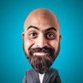 Puppet man with big head Royalty Free Stock Photography