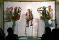 Puppet show shadow play in india artists perform large a performing art with indian heritage on january hyderabad Stock Images