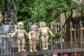 Puppet souvenir myanmar tradition dolls Stock Photos