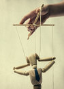Puppet on a string Royalty Free Stock Photo