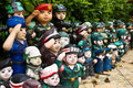 Puppet troops from mortar pasteur Stock Image