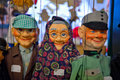 Puppets on display in the shop Royalty Free Stock Photo