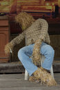Puppets made ​​of straw Stock Photo