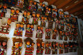 Puppets in paper mache souvenirs objects made according to traditional methods of Royalty Free Stock Images