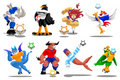 Puppets of soccer-Illustration-vector icons Royalty Free Stock Photos