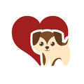 puppy adorable pedigree red heart