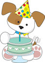 Puppy Birthday Cake Royalty Free Stock Photos