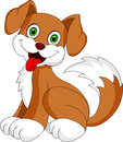 Puppy dog cartoon cute little was sticking her tongue Royalty Free Stock Photos