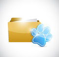 Puppy medical history folder. illustration Stock Photography