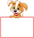 Puppy Place Card Royalty Free Stock Photo