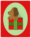 Puppy's First Christmas Stock Photography