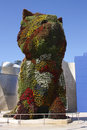Puppy sculpture by Jeff Koons. Guggenheim Bilbao Stock Image