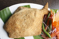 Pur Bhara Pomfret fry - A spicy Bengali Fish Fry. Royalty Free Stock Photo