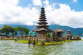 Pura Ulun Danu Bratan Balinese temple complex on Bratan lake, Bali, Indonesia