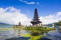Pura ulun danu temple on a lake beratan bali indonesia Stock Photos