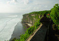 Pura uluwatu temple in bali island indonesia view of Stock Image