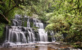 Purakaunui Falls (Catlins Forest Park, New Zealand) Royalty Free Stock Photo