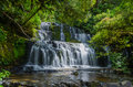 Purakaunui Falls, The Catlins, New Zealand Royalty Free Stock Photo