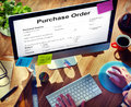 Purchase Order Form Payslip Concept Royalty Free Stock Photo