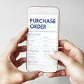 Purchase Order Online Form Deal Concept Royalty Free Stock Photo