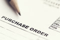 Purchase order sheet Royalty Free Stock Photo