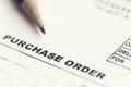 Purchase order sheet Royalty Free Stock Photo