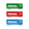 Purchase web button set Royalty Free Stock Photo