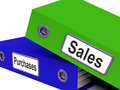 Purchases And Sales Files Containing Transactions Royalty Free Stock Photo