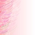 Pure abstract pink floral background pattern left with at side Stock Image