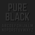 Pure Black alphabet letters