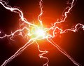 Pure energy and electricity symbolizing power with bright light Stock Photography