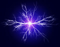 Pure power and electricity explosion of in the dark Royalty Free Stock Image