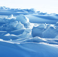 Pure snow formation cold arctic winter weather conditions Royalty Free Stock Photos