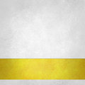 Pure white background with gold footer stripe on bottom border old white paper vintage background texture ribbon layout Stock Photography