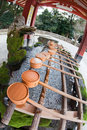 Purification fountain at a Japanese shinto shrine Stock Image