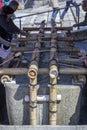 Purification Ritual at Shinto Shrine Royalty Free Stock Photo