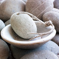 Purifying mineral footcare pebble background Stock Photography