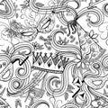 Purim holiday seamless pattern Royalty Free Stock Photo