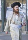 Purim in Mea Shearim Stockfoto