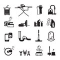 Purity icons set cleaning products of black on a black background Royalty Free Stock Photography