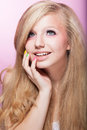 Purity and Virginity - Fresh Young Teen Girl Face. Adolescence Stock Photos