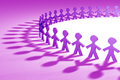 Purple 3D people Royalty Free Stock Images